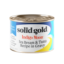 Load image into Gallery viewer, Solid Gold Indigo Moon Sea Bream & Tuna In Gravy Canned Cat Food (170g)