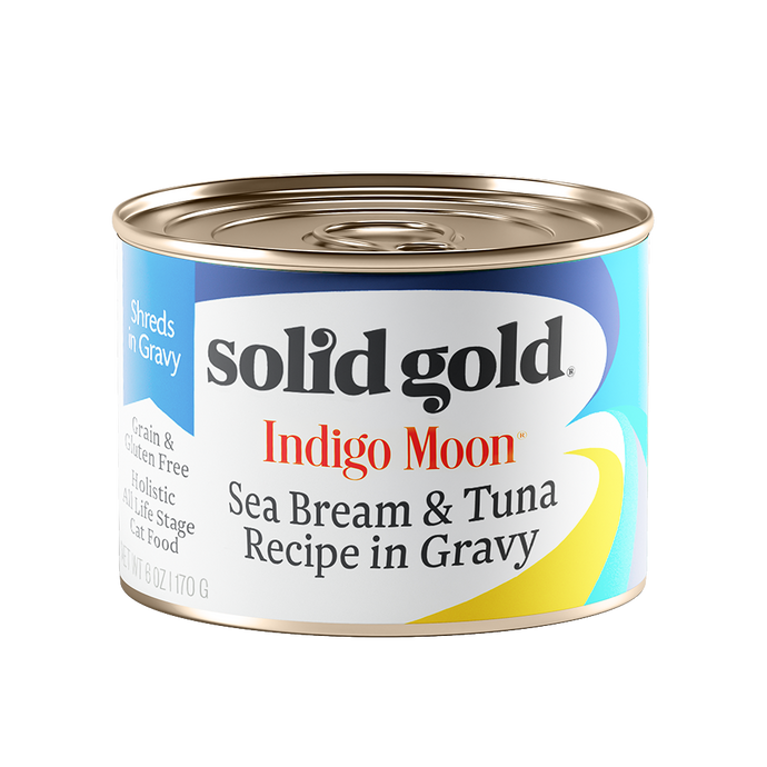 Solid Gold Indigo Moon Sea Bream & Tuna In Gravy Canned Cat Food (170g)