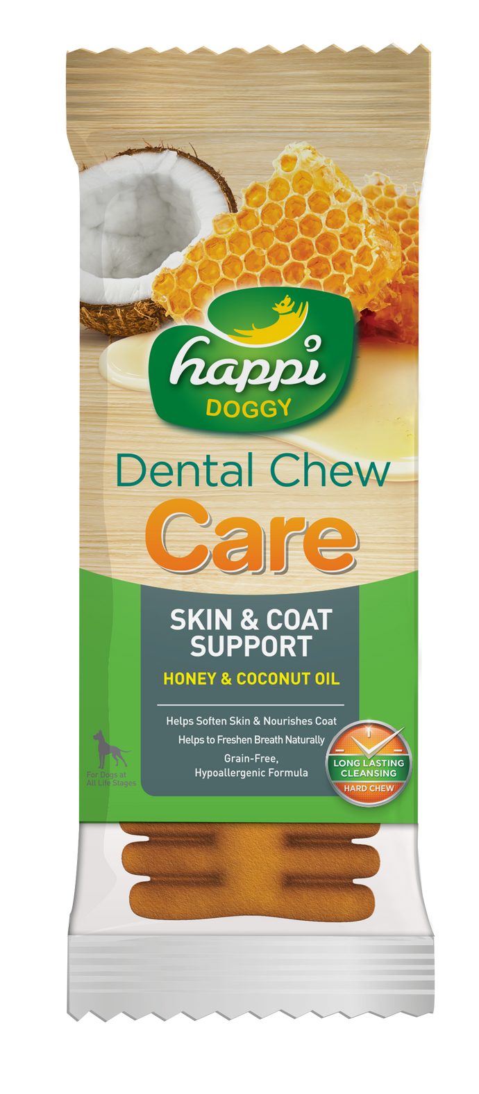 Happi Doggy Dental Chew Care (Skin & Coat Support) 4