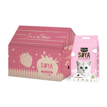 Load image into Gallery viewer, Kit Cat Soya Clump Cat Litter 7L (Strawberry)