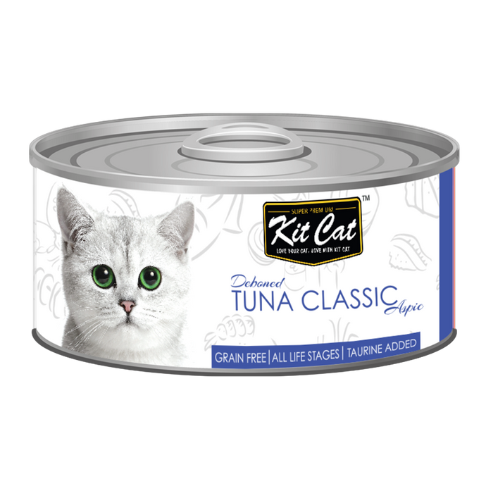 Kit Cat Deboned Tuna Classic Aspic Canned Cat Food (80g)
