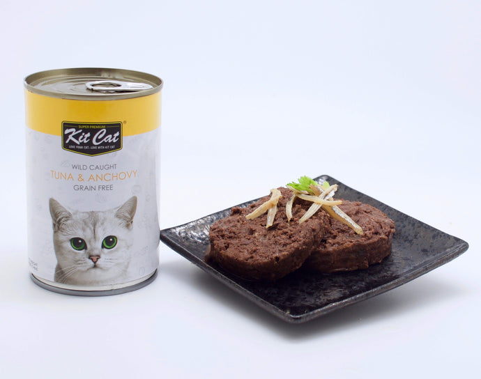 Kit Cat Atlantic Tuna With Whole Anchovy Canned Cat Food (400g)
