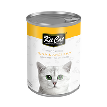 Load image into Gallery viewer, Kit Cat Atlantic Tuna With Whole Anchovy Canned Cat Food (400g)