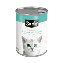 Load image into Gallery viewer, Kit Cat Atlantic Tuna With Mackerel Canned Cat Food (400g)