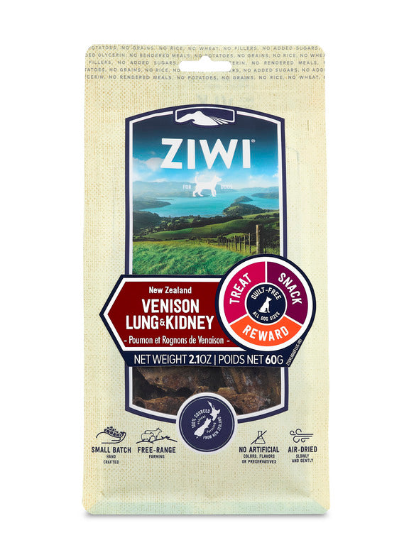 ZIWI Air-Dried Dog Treats - Venison Lung & Kidney