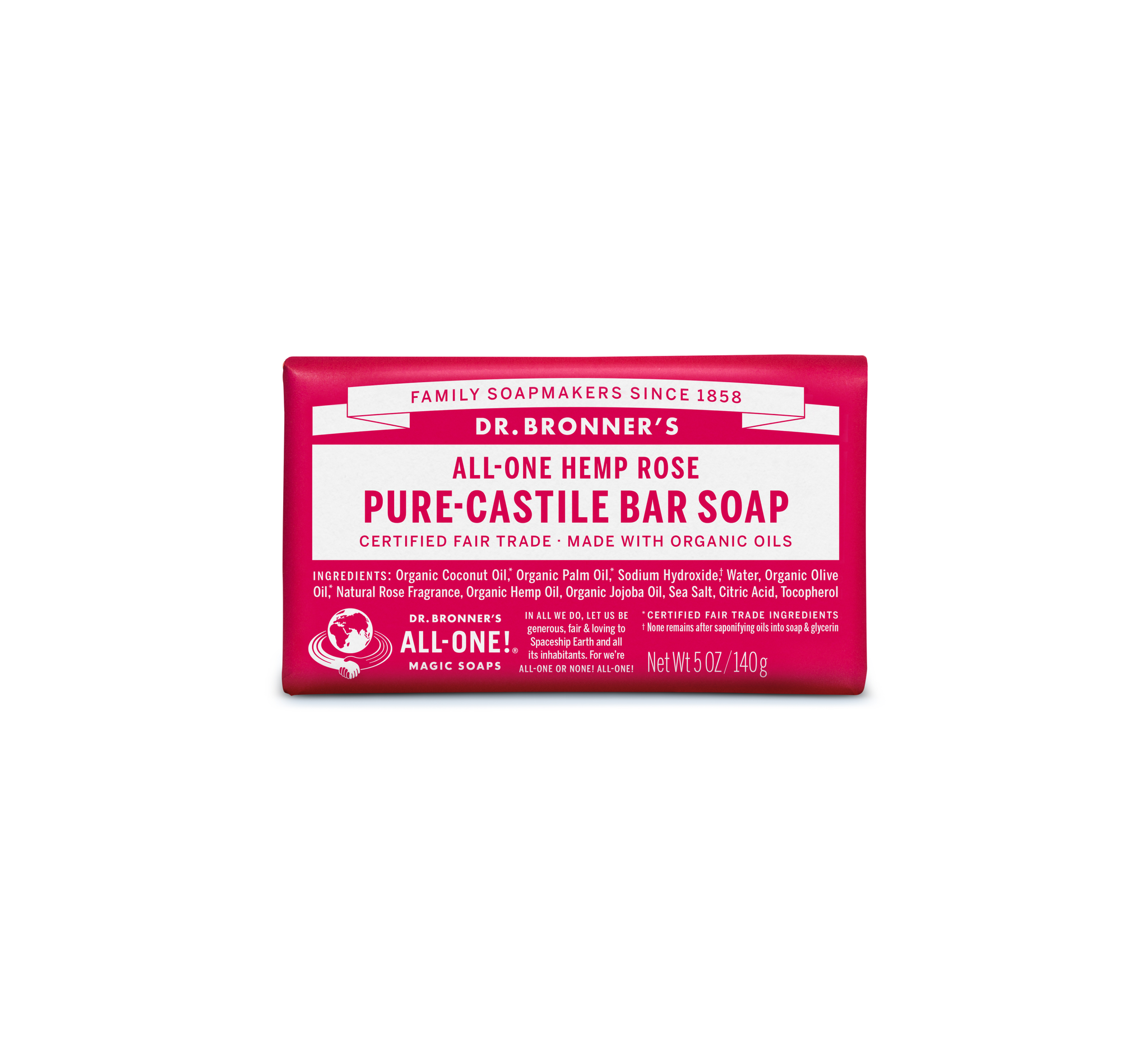 Castile Soap Bar, Rose | Dr. Bronner's