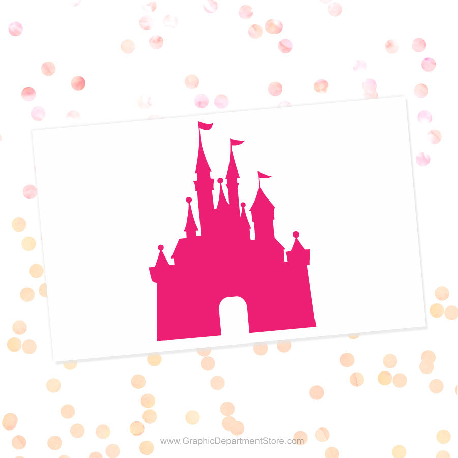 Disney Castle Svg Cut File Clipart