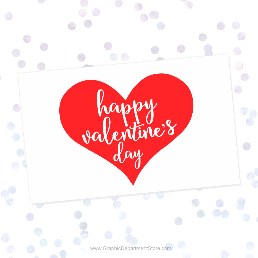 Happy Valentines Day Heart Svg Cut File Saying