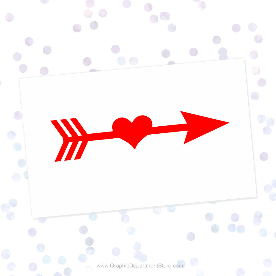 Heart Arrow Svg Cut File Clipart