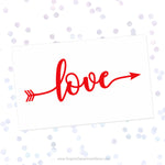 Love Arrow Svg Cut File Saying