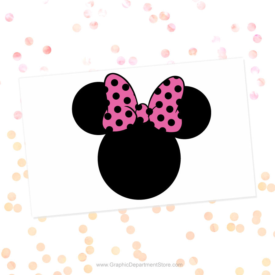 Minnie Mouse Polka Dot Bow Svg Cut File Clipart