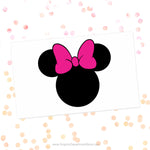 Minnie Mouse Pink Bow Svg Cut File Clipart