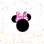 Minnie Mouse Pink Polka Dot Bow Svg Cut File Clipart