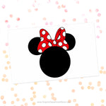 Minnie Mouse Head Red Bow Svg Cut File Clipart