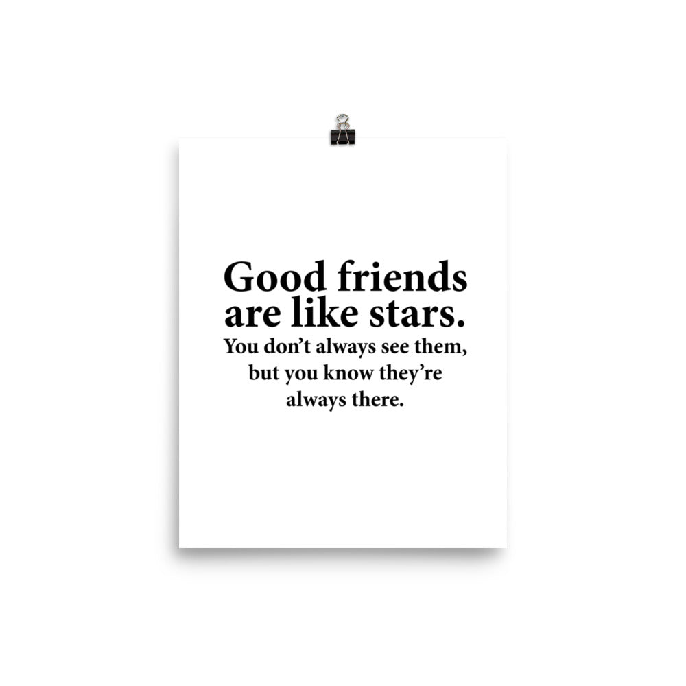 Good Friends Wall Art Poster