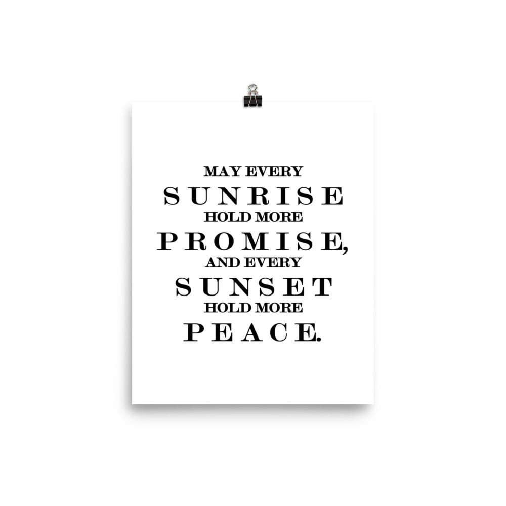 May Every Sunrise Poster Wall Art