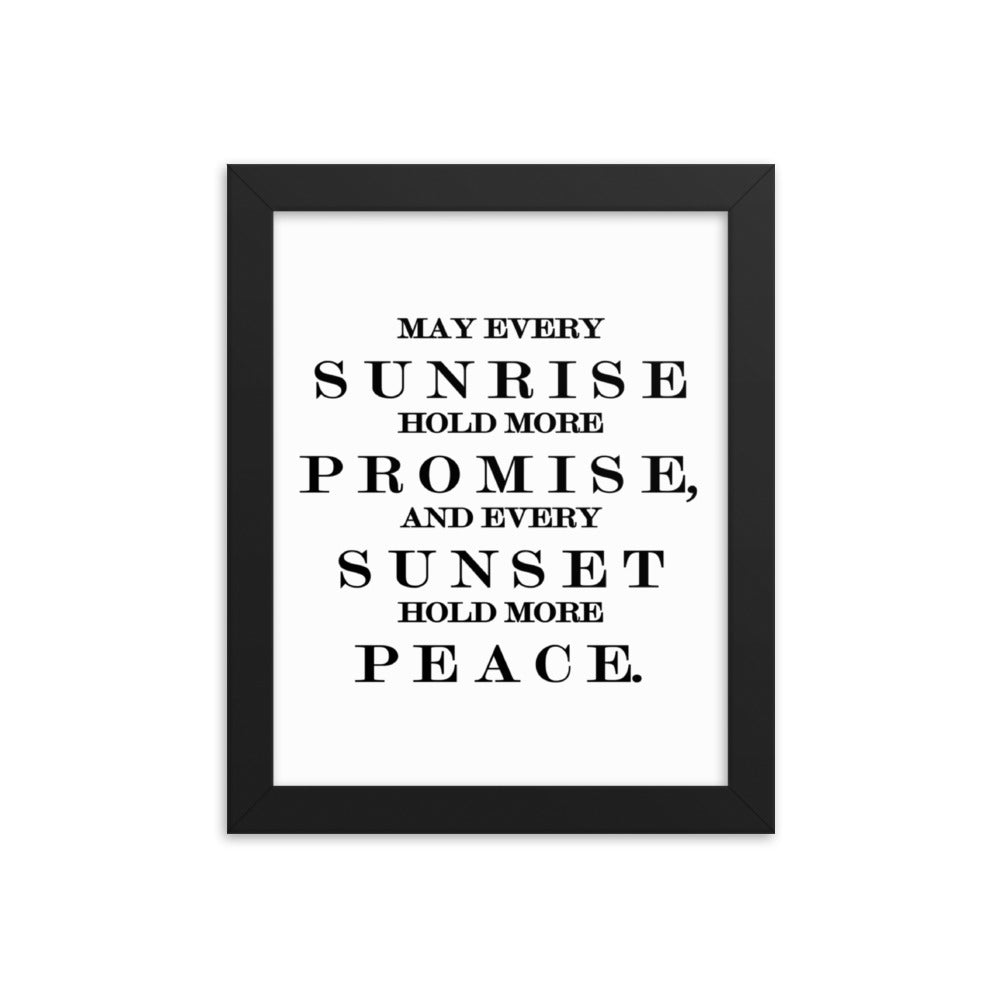 May Every Sunrise Framed Poster Wall Art
