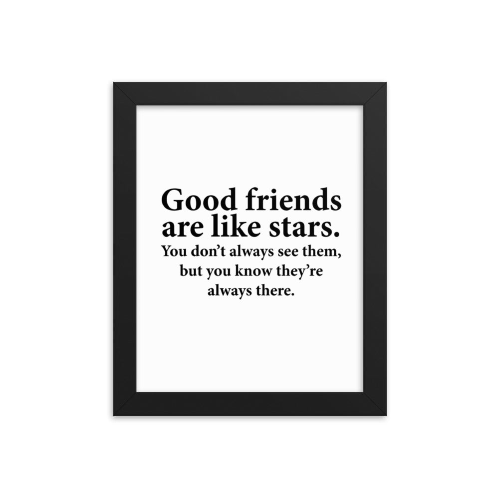 Good Friends Framed Poster Wall Art