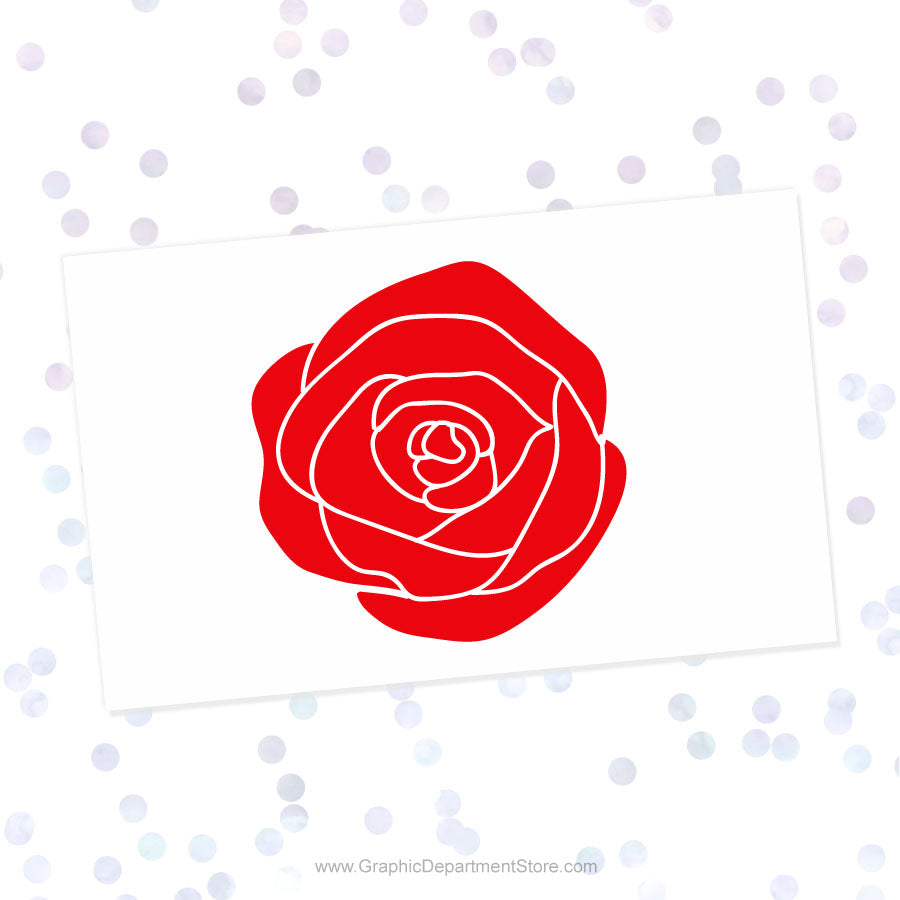 Rose Svg Cut File Clipart