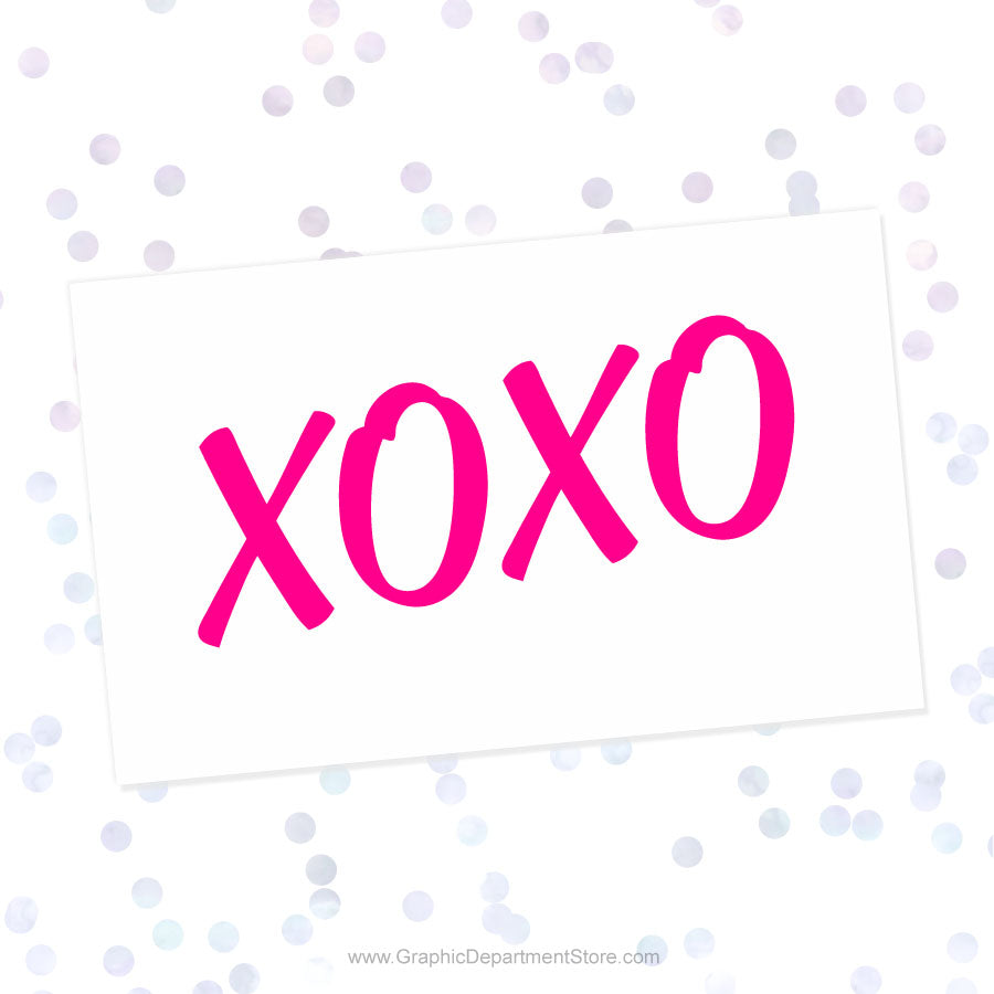XOXO Svg Cut File Saying