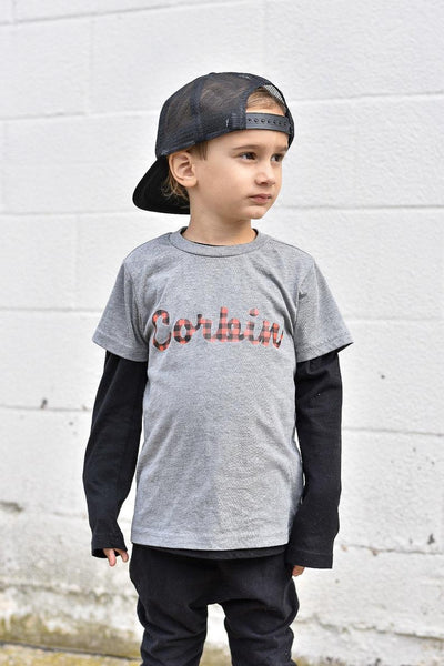 BUFFALO PLAID PERSONALIZED KIDS SHIRT