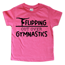 FLIPPING OUT OVER GYMNASTICS KIDS SHIRT