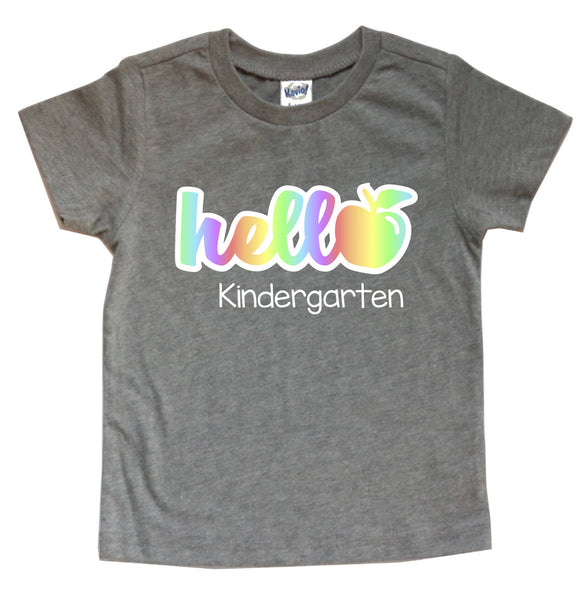 HELLO KINDERGARTEN KIDS SHIRT