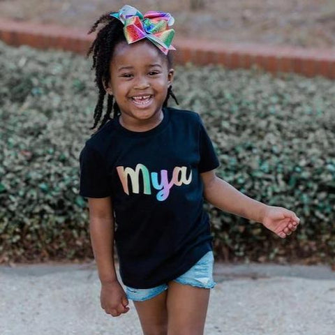 RAINBOW PERSONALIZED KIDS SHIRT