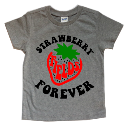 STRAWBERRY FIELDS FOREVER KIDS SHIRT