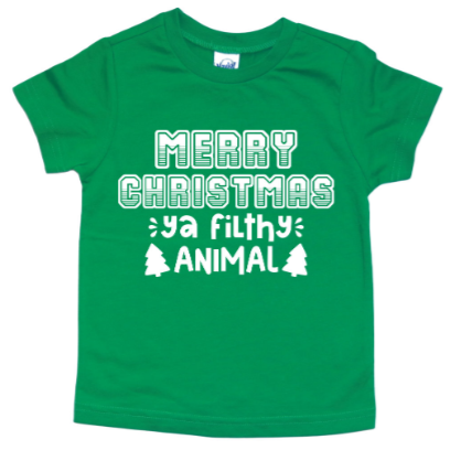 MERRY CHRISTMAS YA FILTHY ANIMAL KIDS SHIRT