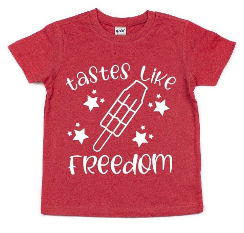TASTES LIKE FREEDOM KIDS SHIRT