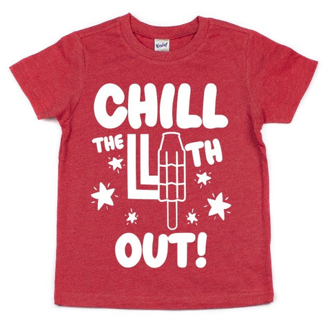 CHILL THE 4TH OUT KIDS SHIRT