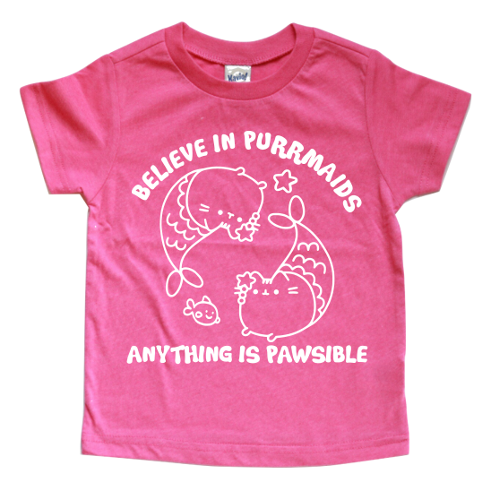 BELIEVE IN PURRMAIDS KIDS T-SHIRT