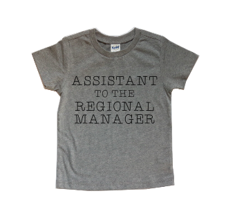 ASSISTANT TO THE REGIONAL MANAGER KIDS SHIRT