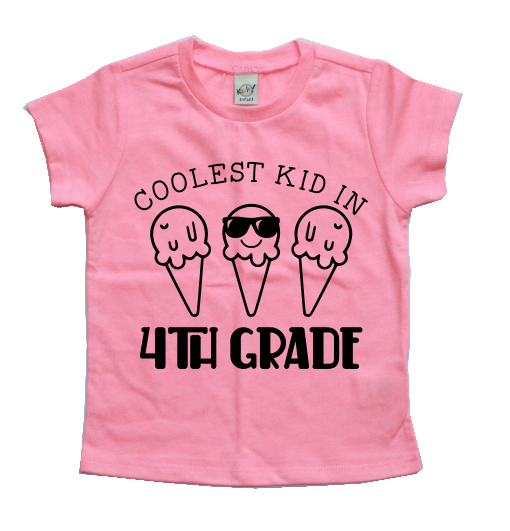 COOLEST KID IN 4TH GRADE KIDS SHIRT