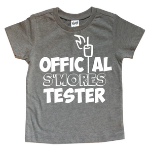 OFFICIAL S'MORES TESTER KIDS SHIRT