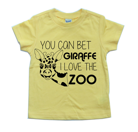 YOU CAN BET GIRAFFE I LOVE THE ZOO KIDS SHIRT