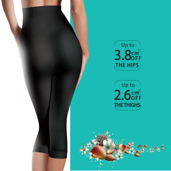 Excel Slim Flash Flat Tummy Capris Black