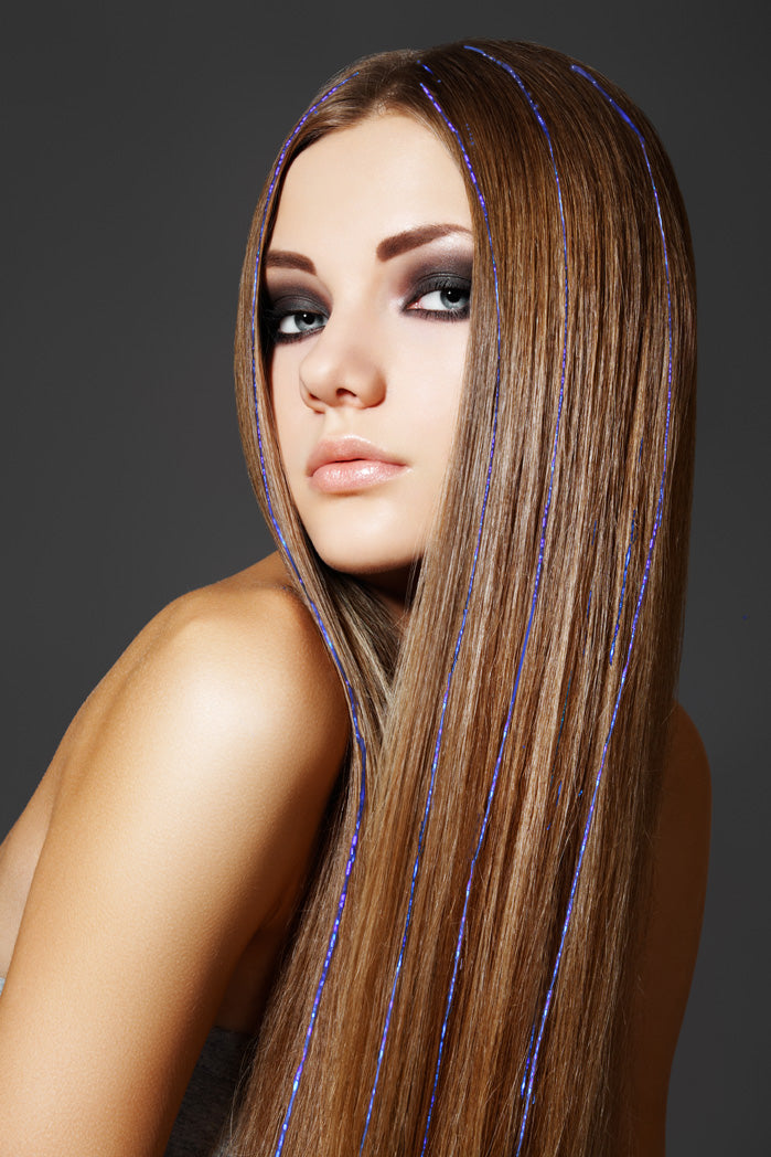 Hair Tinsels - Blue