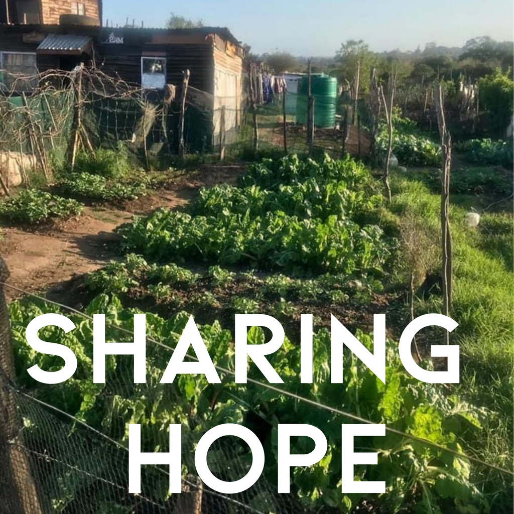 sharing hope by supporting community gardens at Nolukhanyo in the Eastern Cape of South Africa through #hipposforhope and @bebabotanica