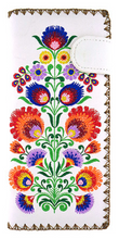 Load image into Gallery viewer, Polaska Flowers Long Wallet White