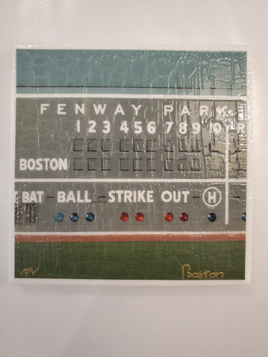 Fenway Scoreboard Photo Coaster