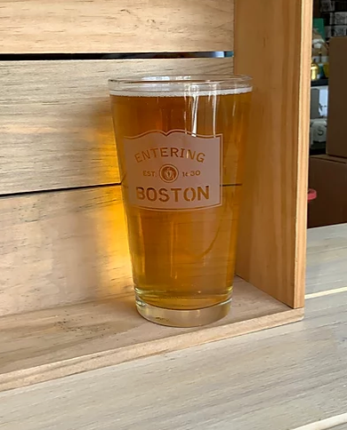 Entering Boston Pint Glass