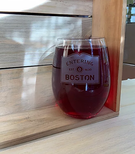 Boston Stemless Wine Glass
