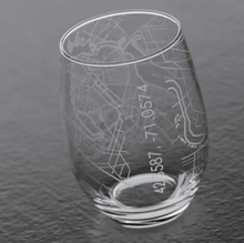 Load image into Gallery viewer, Boston Map Stemless Wine Glass