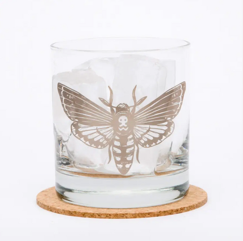 Moth Rocks Glass