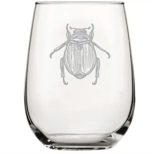 Scarab Beetle Wine Glass