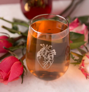 Anatomical Heart Stemless Wine Glass