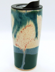 20 Oz Travel Mug Seashell Glaze
