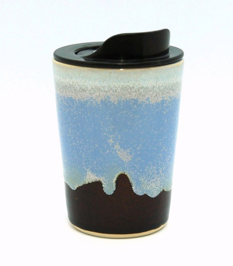 12 Oz Travel Mug Serenity Glaze